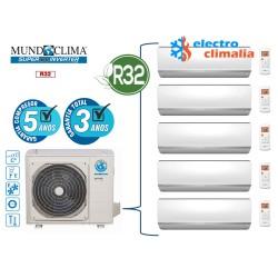 Aire acondicionado 2x1 MUNDO CLIMA MUPR-18x2-H9M